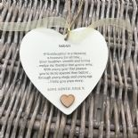 Shabby personalised Gift Chic Heart Plaque Special Goddaughter Gift ANY NAMES!
